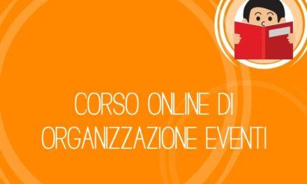Corso online di organizzazione eventi