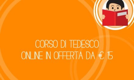 Corso di tedesco online in offerta da € 15